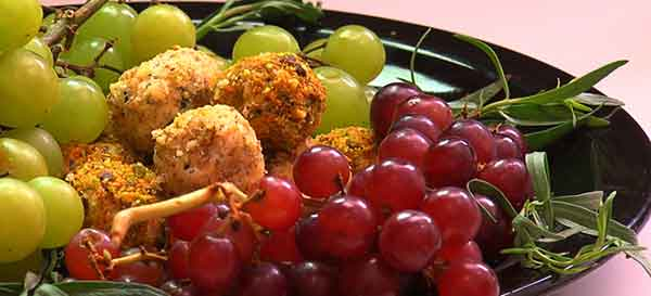 Valentine's Day Menu - Goat Cheese Grape Truffles