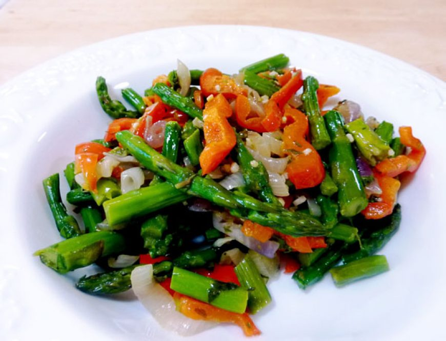 Stir-Fried Asparagus Medley