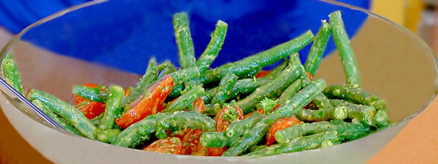 Green Beans with Citrus Cumin Vinaigrette & Grape Tomatoes