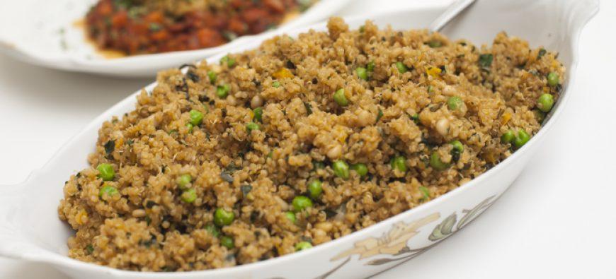 Quinoa Pilaf with Cumin & Peas