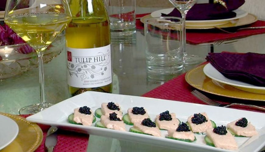 Smoked Salmon Mousse on Cucumber Slices