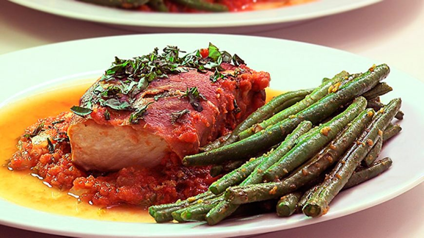 White Salmon Saltimbocca
