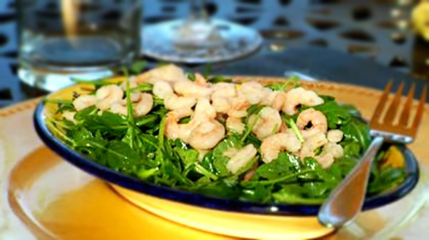 Arugula Salad with Baby Shrimp