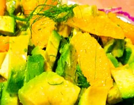 Avocado, Orange & Fennel Salad with Cumin Vinaigrette
