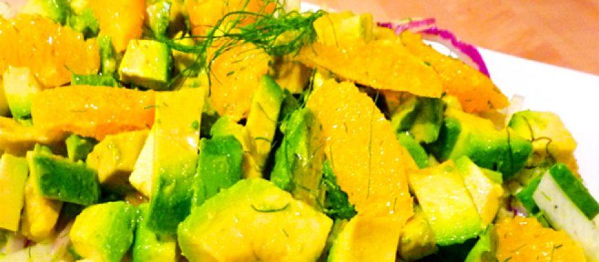 Avocado, Orange & Fennel Salad with Cumin Vinaigrette
