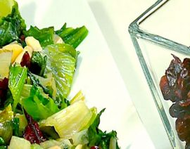Escarole with Cranberries & Almonds