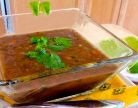 Indian Inspired Black Bean Soup