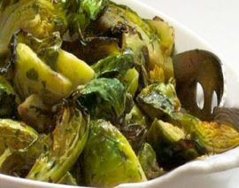 Roasted Brussels Sprouts with Garlic & Herbs