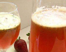 Strawberry Lemonade with Mint