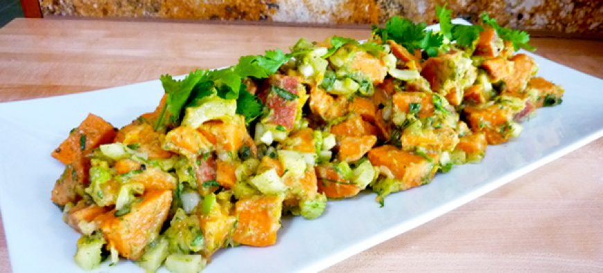 Sweet Potato Salad with Creamy Garlic Dressing